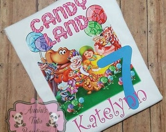 Candy Land Theme Birthday Shirt Girl Toddler Baby