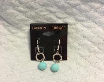 Blue Beads, Silver Circles