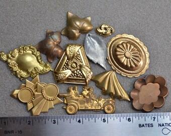 Vintage Brass Stamping Shapes