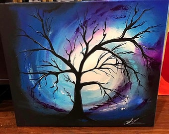 Hand Painted Acrylic Painting - Tree Painting - Original art - Contemporary Art