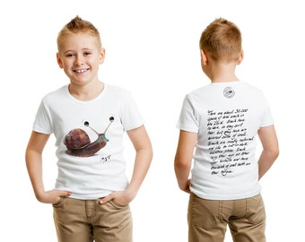 Premium Quality Snail T-Shirt for Kids