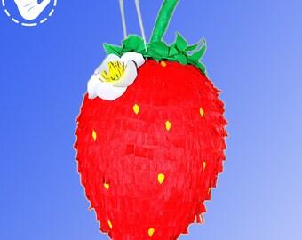 Pinata Strawberry Handmade Party Birthday Game