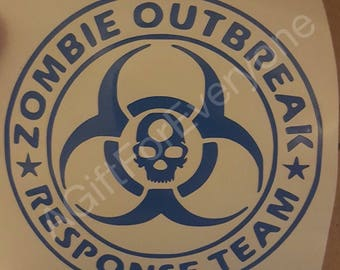 Zombie Response Outbreak Team Decal