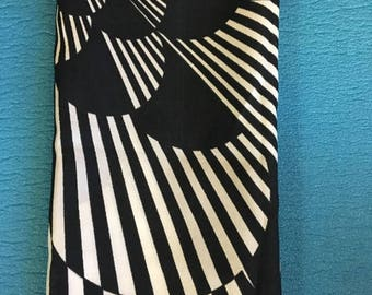 Black and White Escher Inspired Scarf