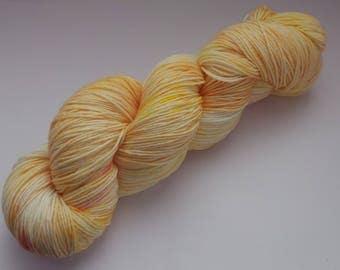 Coral - 4ply Deluxe Sock hand dyed yarn – Superwash Merino + Nylon 85/15
