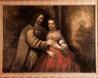The Jewish bride - Rembrandt original reproduction oil painting on canvas