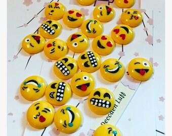 Emoji Cabochons Lot of 24