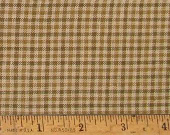 "Maple Brown 2 Homespun Cotton Fabric (Full Yard 36"" x 44"")"