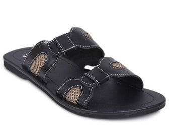 Men leather sandals | Leather Black ad hand made sandal