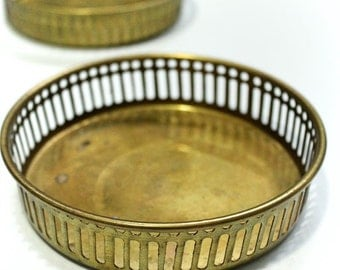 Set Of 2 Small Brass Plates/Food Photography Props