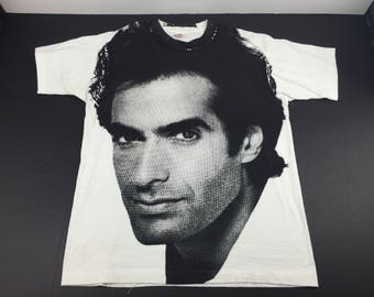 Vintage 90s David Copperfield all over print t-shirt mens xl magician