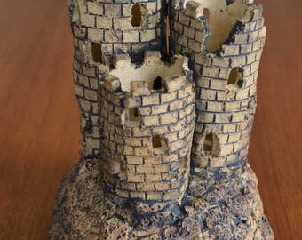 Ceramic Castle Tealight Lantern