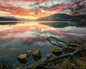Photo print  Lake Völkermarkt, Austria - giclee printer - fine art photography, Wall Decor Art.