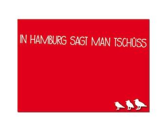 Postcard Hamburg says goodbye