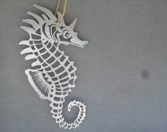 Seahorse Metal wall art  home decor garden Metal fish art sculpture