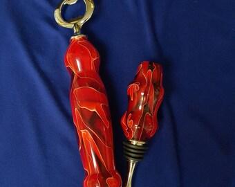 Red Satin Acrylic Bottle Opener