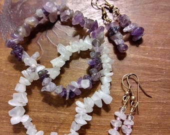 Quartz Amethyst Set