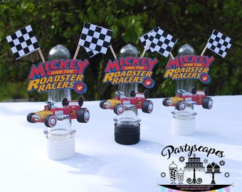Mickey and the Roadster Racers Birthday Party Favor Candy Tubes - Set of 12
