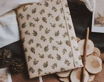 Handmade notebook with covers made of cotton | Sketchbook A5