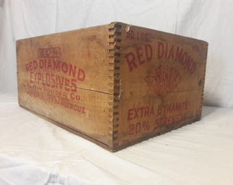 1940s Red Diamond Explosives Crate