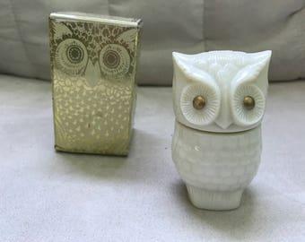 Vintage 1970s Avon Precious Owl Moonwind Cream Sachet