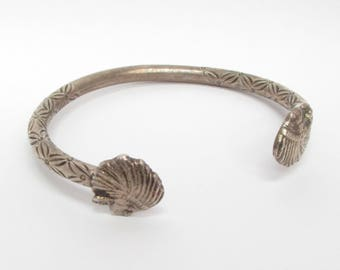 Unique 925 Sterling Silver Vintage Native Chief Carved Cuff Bracelet - B023 (!!!OFFERS ACCEPTED!!!)