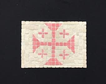 Red cross mosaic