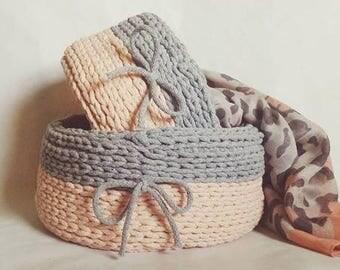 Handmade storage basket ( set of 2)