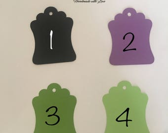 Tags / Favor Tags / Candy Bar Tags / Price Tags / Gift tags / Decorative tags / Wedding Tags / Labels / Black tags / Purple tags /Green tags