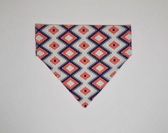 light Aztec over the collar bandana