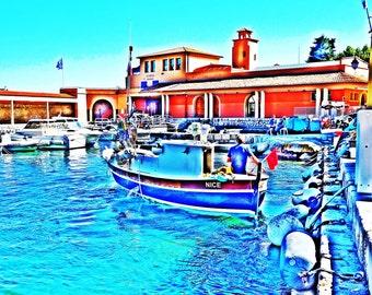 Villefranche sur Mer,Cote d Azur, bateau, port,impression,photo imprimable,photo,couleur,art digital,ArtByThaliaBoutique,decoration murale