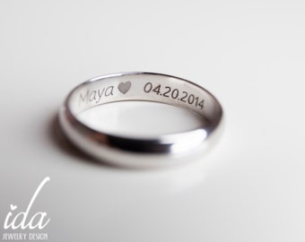 engraved mens ring wedding band mens silver wedding band men engraved wedding bands - Wedding Rings Men