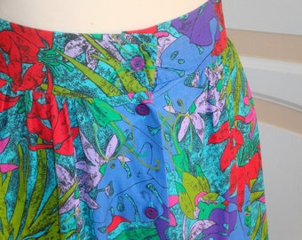 Vintage Colourful Skirt size 18 uk
