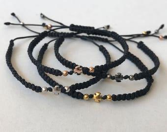handmade macrame cross   braceletes