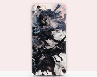 Black Marble Design Interesting Case Case For Him Unusual iPhone Case Ink Case Dark Ink Marble iPhone SE Gray Black Design Case 14