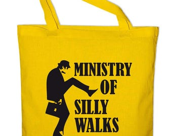 No1 Monty Python-Ministry of silly walks fabric cotton bag