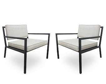 Pair of Van Keppel Green Low Club Lounge Chairs
