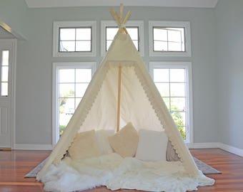 TEEPEE ADULT; adult teepee; adult tepee; boho tent; wedding teepee; wedding backdrop; boho teepee; boho tepee; 8 ft teepee; Brittany