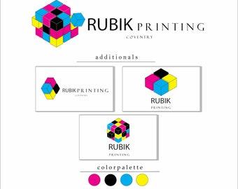 Premade Printing shop logo. Pre-made logo. Branding for printing shop. Business card. Professional Logo for printing shop. Printing studio