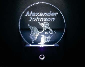 Personalized Beta Fish Night Light