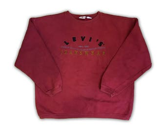 VIntage LEVIS - Crewneck/ Sweater - Medium/Red