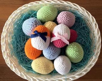 Easter eggs' basket