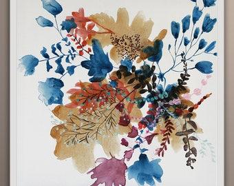 Flower Painting, Original Flowers Painting, Floral Painting, Original Painting, Flower Art