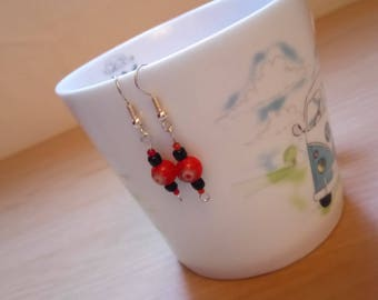 Small drop Chinese lantern earrings