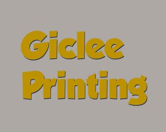 Giclee printing service