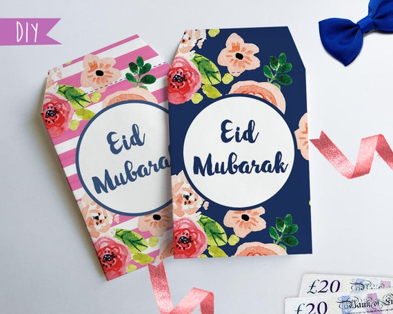 Printable Eid money envelopes, Money package envelope, DIY