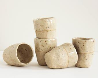 Espresso cups - Set of 5 | Handmade Ceramic Coffee Mug, Pottery Cups, Stoneware dinnerware, Small mugs, Ceramics, Servingware