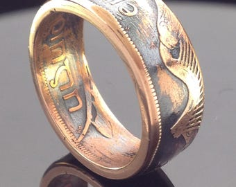 Irish One Penny Coin Ring (1928-1937)