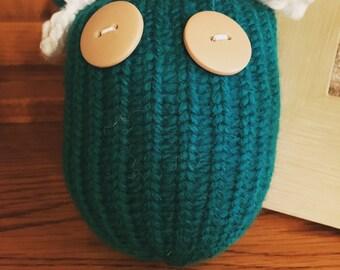 Darling Teal Owl figurine