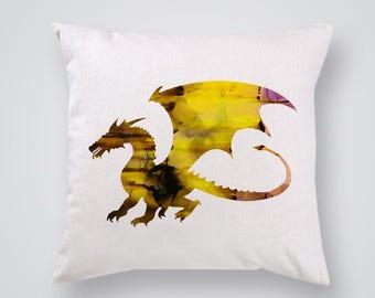 Golden Dragon Pillow Cover Throw Pillow Home Decor